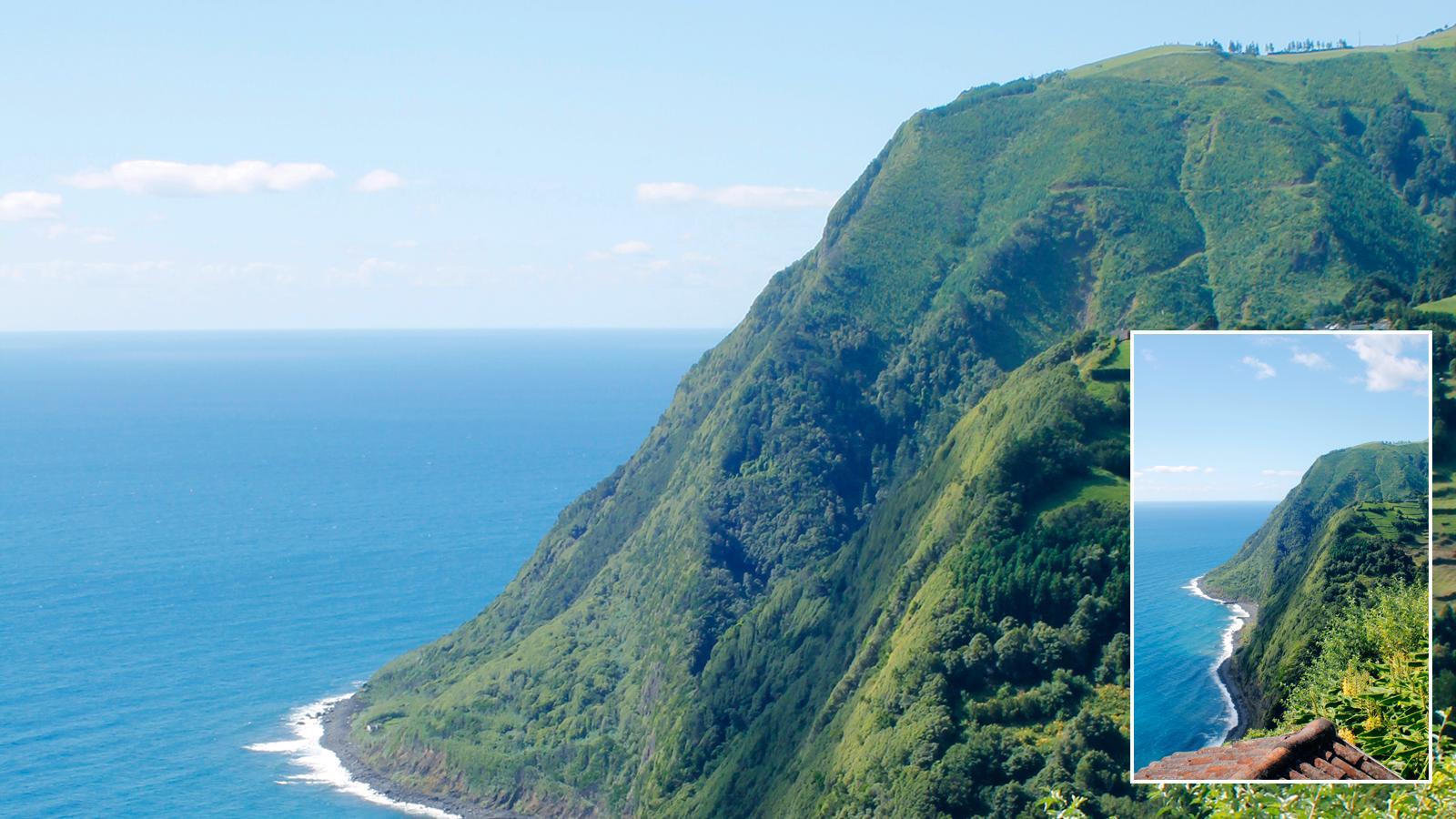 Miradouro na Ponta do Sossego na Ilha de Açores